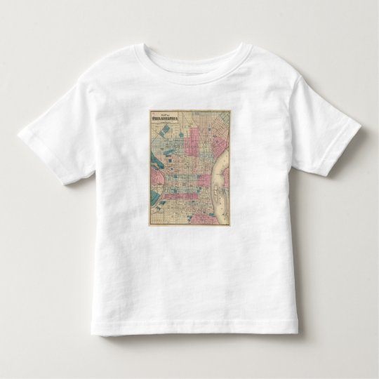 Philadelphia, Pennsylvania Map Toddler T-shirt