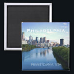 """Philadelphia Pennsylvania Photo Souvenir Magnet<br><div class=""""desc"""">Tip: dated magnets are a fun way to keep a chronology of your travels and Zazzle makes it easy to add a date.</div>"""