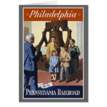 Philadelphia Pennsylvania Railroad Greeting Card
