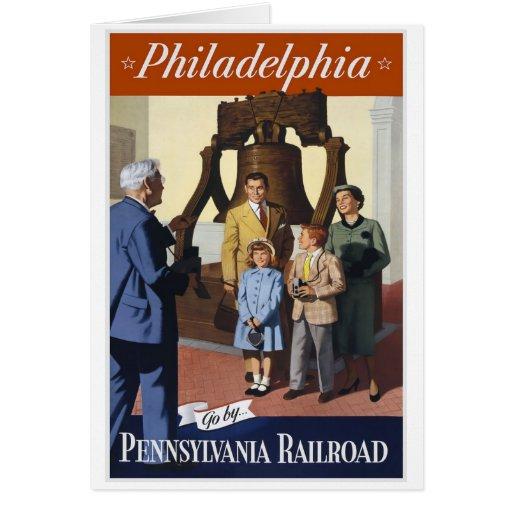 Philadelphia Pennsylvania Railroad Stationery Note Card