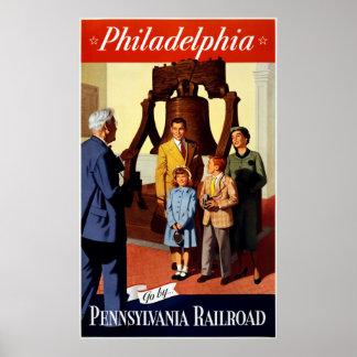 Philadelphia - Pennsylvania Railroad Vintage Poste Poster