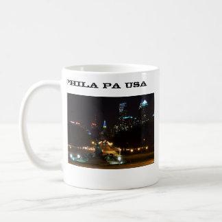 Philadelphia Pennsylvania Skyline at Night Coffee Mug