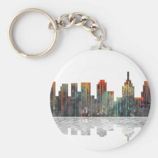 Philadelphia Pennsylvania Skyline Basic Round Button Keychain