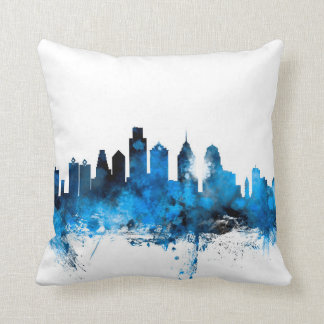 Philadelphia Pennsylvania Skyline Pillows