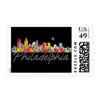 Philadelphia Pennsylvania Skyline Postage