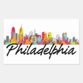 Philadelphia Pennsylvania Skyline Rectangular Sticker
