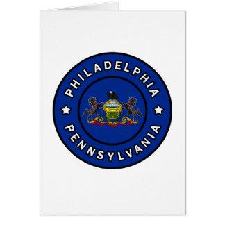 Philadelphia Pennsylvania Tarjeta De Felicitación