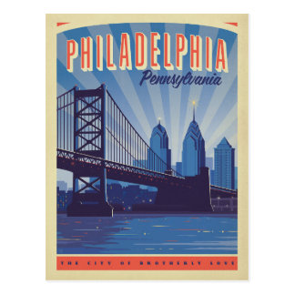Philadelphia, Pennsylvania | The City Of Brotherly Postcard