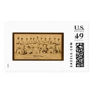 Philadelphia Phillies Team 1913 Postage Stamps