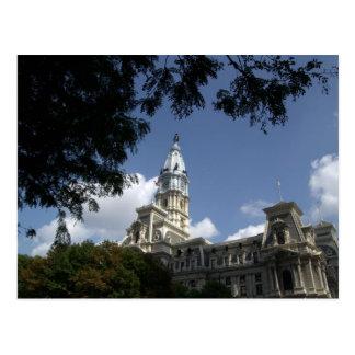 Philadelphia postal de ayuntamiento del PA