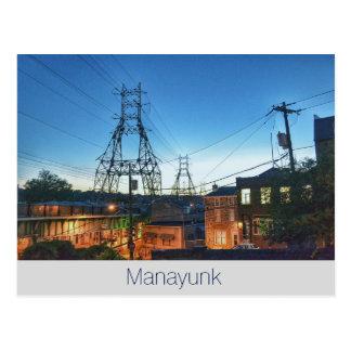 Philadelphia Postal-Manayunk-Cresson y algodón Postal