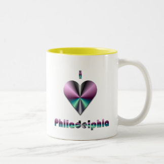 Philadelphia - Purple & Turquoise Two-Tone Coffee Mug