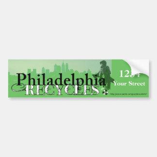 Philadelphia recicla horizonte y Penn Pegatina De Parachoque