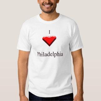 Philadelphia -- Red & Black T Shirt