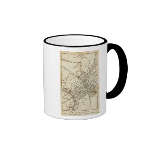 Philadelphia Road Map Mug