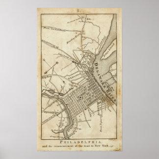Philadelphia Road Map Print
