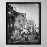 Philadelphia Scene Daguerreotype 1842 Posters