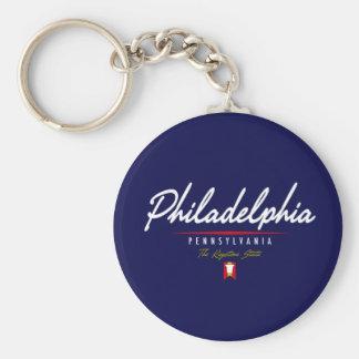Philadelphia Script Keychain