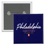 Philadelphia Script Pinback Button