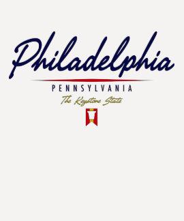 Philadelphia Script T-shirts