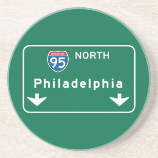Philadelphia, señal de tráfico del PA Posavasos Manualidades