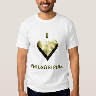 Philadelphia -- Shimmering Gold T-shirt