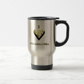 Philadelphia -- Shimmering Gold Travel Mug