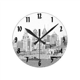 Philadelphia Sketch Wall Clock