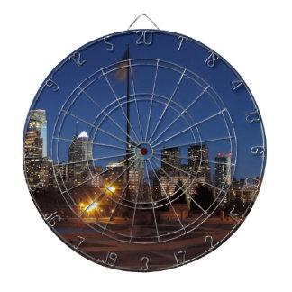 Philadelphia Skyline at Dusk Dart Board