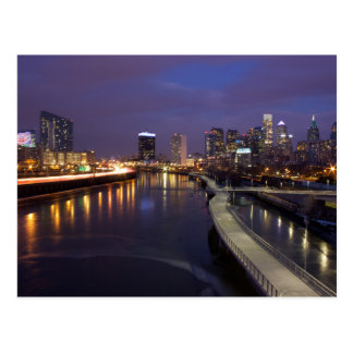 Philadelphia Skyline at Dusk Postcard