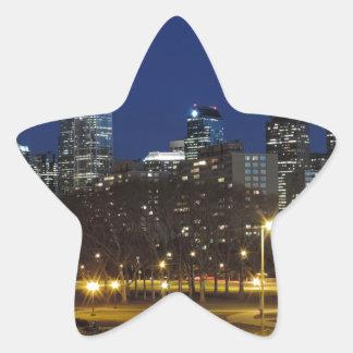 Philadelphia Skyline at Dusk Star Sticker