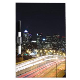 Philadelphia Skyline at Night Dry Erase Whiteboards