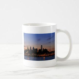 Philadelphia Skyline at Twilight Coffee Mugs