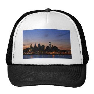 Philadelphia Skyline at Twilight Trucker Hats