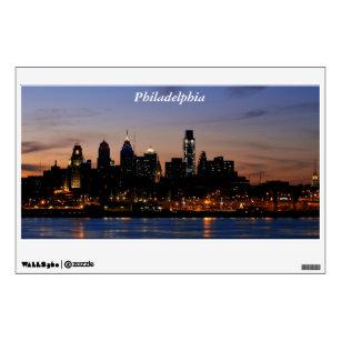 Philadelphia Skyline at Twilight Wall Decal  sc 1 st  Zazzle & Philadelphia Skyline Wall Decals u0026 Wall Stickers | Zazzle