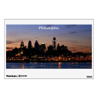 Philadelphia Skyline at Twilight Wall Decal
