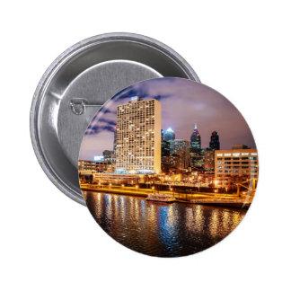 Philadelphia Skyline Button