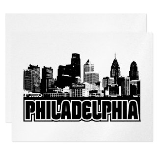 Philadelphia Skyline Card