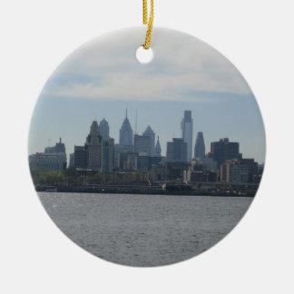 Philadelphia Skyline Ceramic Ornament