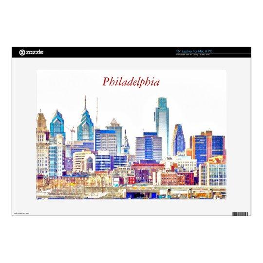 Philadelphia Skyline Color Sketch Laptop Skin