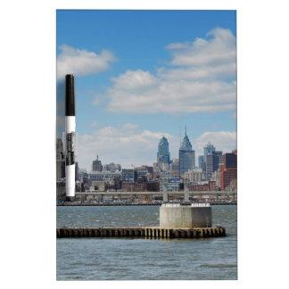 Philadelphia Skyline Dry Erase Board
