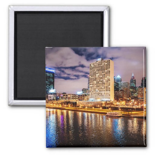 Philadelphia Skyline Fridge Magnet