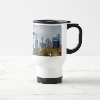 Philadelphia Skyline from the River Walk 15 Oz Stainless Steel Travel Mug