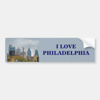 Philadelphia Skyline from the River Walk Bumper Sticker
