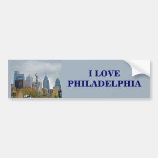 Philadelphia Skyline from the River Walk Car Bumper Sticker