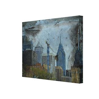 Philadelphia Skyline From The River Walk Canvas Print