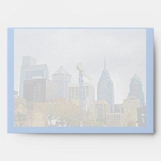 Philadelphia Skyline from the River Walk Envelope