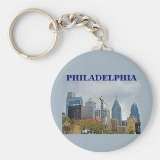 Philadelphia Skyline from the River Walk Keychain