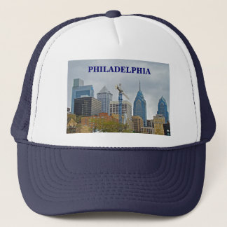 Philadelphia Skyline from the River Walk Trucker Hat