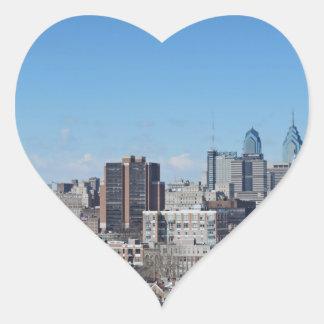 Philadelphia Skyline Heart Sticker